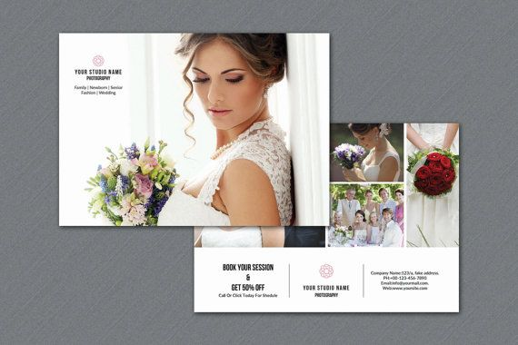 Photography Marketing Template  7x5 Promo Card by TemplateStock
