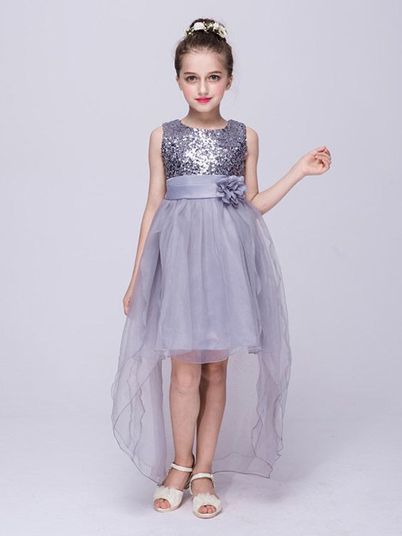 Only $36.9, Cheap Flower Girl Dresses Lime Green High Low