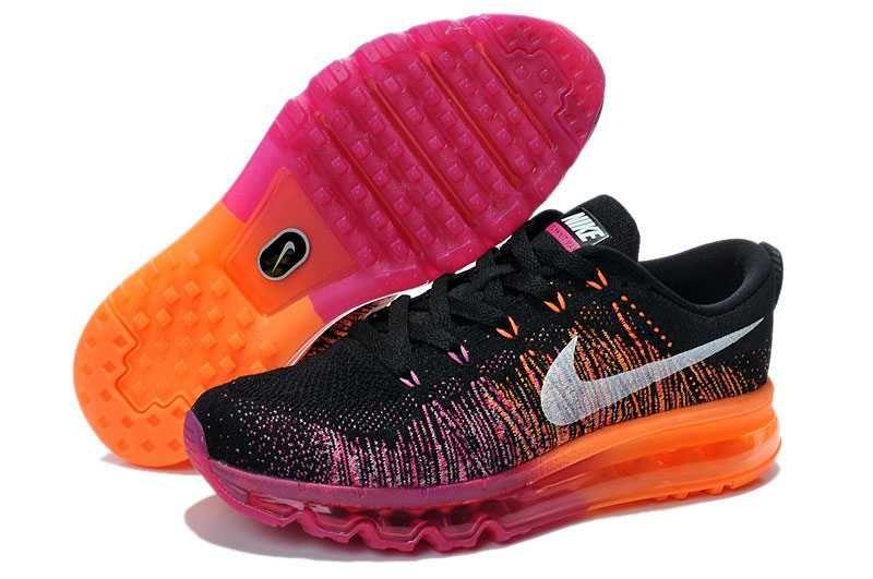brand new d22d9 38952 1830  Nike Air Max Flyknit Dam Svart Lila Orange SE511863vwktXafAg