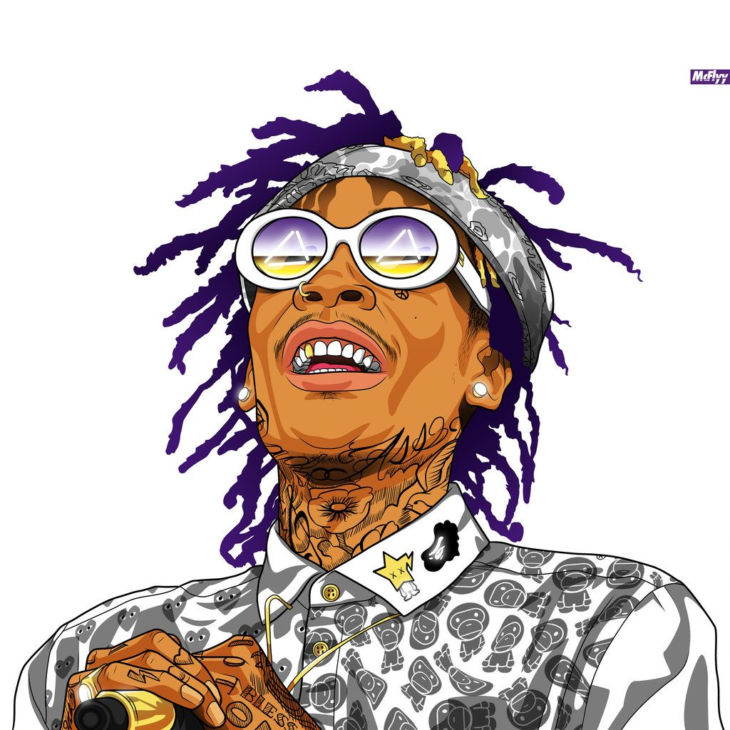 Wiz Khalifa   Art   Portraits of music artist   Pinterest ...