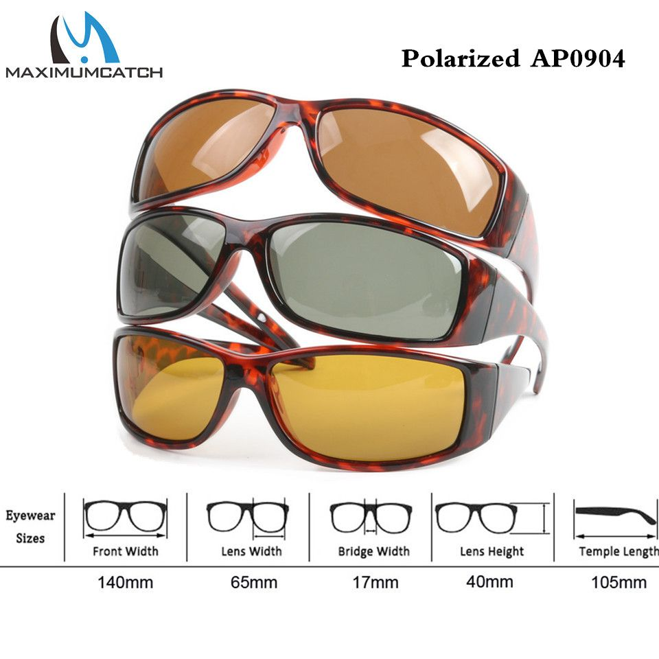 81dc2c3ee778 Maximumcatch Tortoise Frame Fly Fishing Polarized Sunglasses Gray Yellow Brown  Fishing Sunglasses