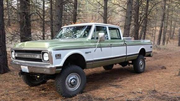 70 Chevrolet C10 Customised Into Crew Cab 4 Door Chevy 4x4 Trucks