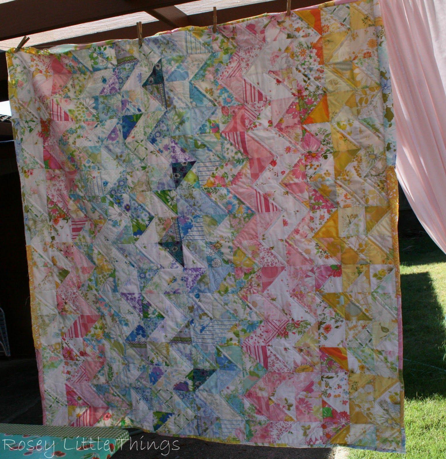 IMGg vintage sheetsquilts Pinterest