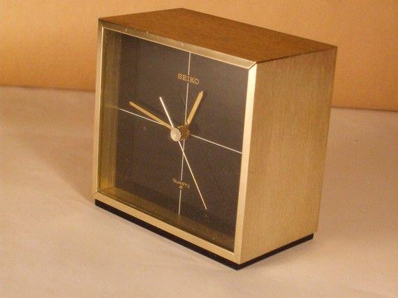 Vintage Gold Seiko Table Clock