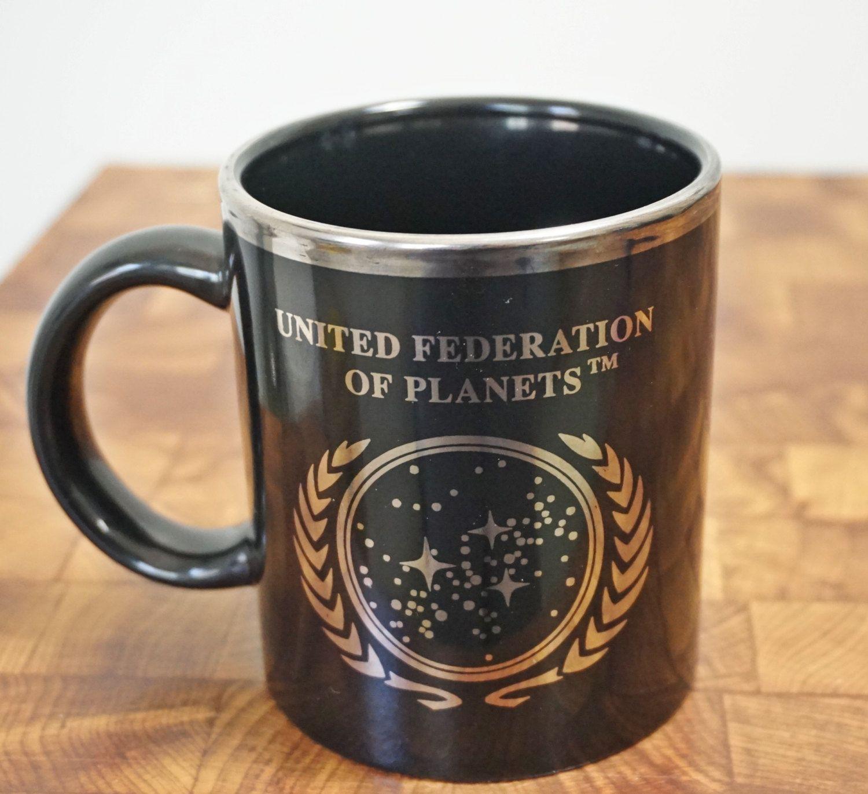 0c59719c090 Vintage Star Trek Mug Vintage Coffee Cup United Federation Of Planets by  LittleRiverVintage on Etsy