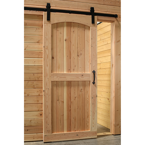Archtop Interior Barn Style Door Shown Installed With Optional