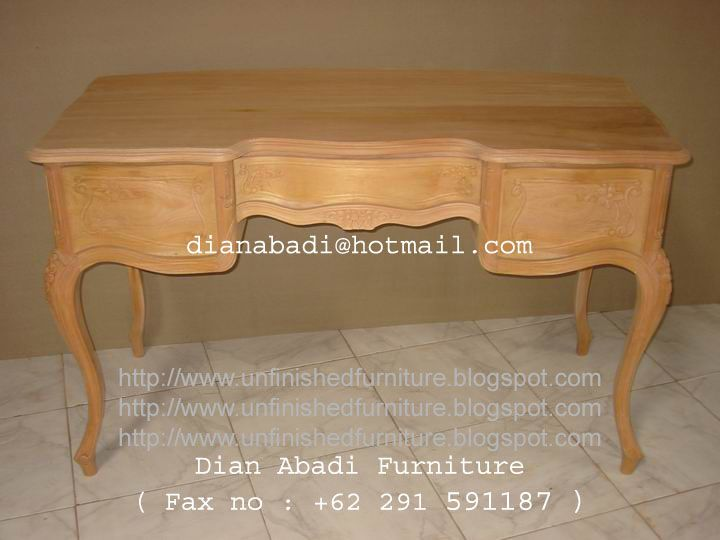 Unfinished Mahogany Furniture Ladies Writing Desk 3 Drawer Made Of Fine Solid Kiln Dry Mahogany Wood Present With Images Italian Style Furniture Raw Furniture Furniture