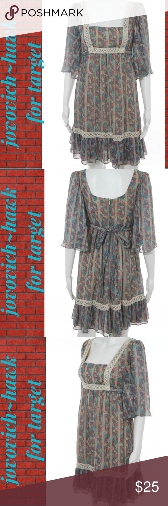 Jououich hawk sheer redblue peasant dress peasant dresses