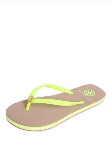 42a5daac6 Tory Burch Flip Flop Neon Yellow 7 Tory Burch
