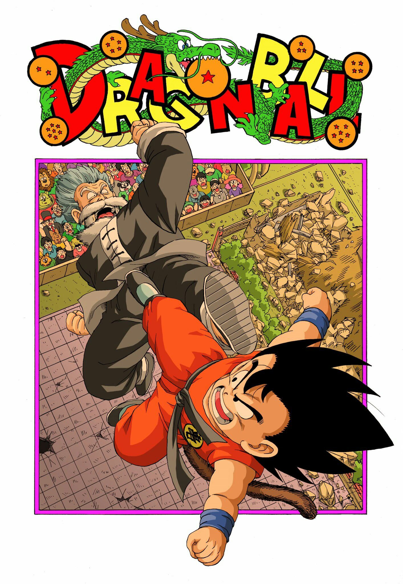 Goku Vs Jackie Chun Mestre Kame Anime Dragon Ball Super Anime Dragon Ball Dragon Ball