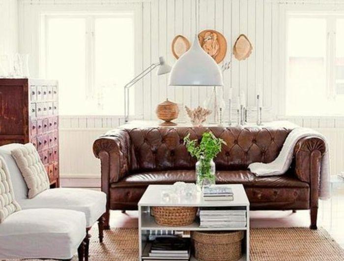 le-plus-beau-fauteuil-club-cuir-vieilli-pour-le-salon-moderne-avec ...