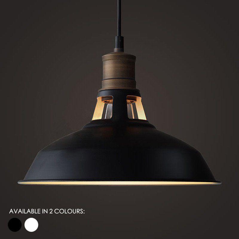 duotone vintage industrial pendant light with brass fitting warehouse loft inspired - Industrial Vintage Wohnhaus Loft Stil