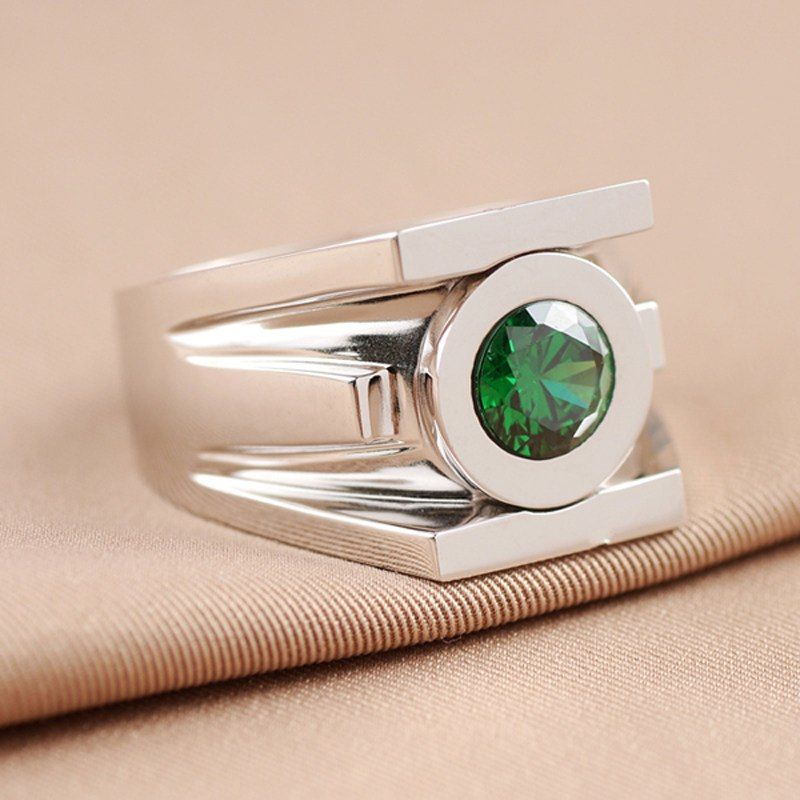 Green Lantern Emerald 925 Silver Ring Somehow Girly The Green Lantern Wearer Can Create Powerful Physical Co Lantern Rings Green Lantern Ring Rings For Men