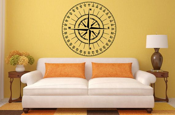 Pin On Compass Wheel Navigation Wall Stickers Decals