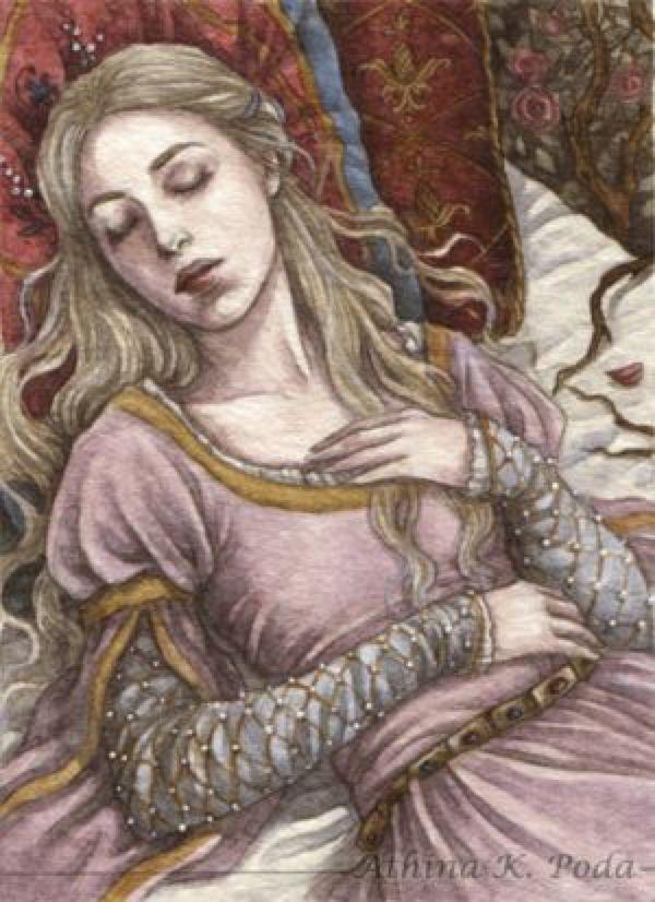 ACEO : Sleeping Beauty II by Achen089 on @DeviantArt