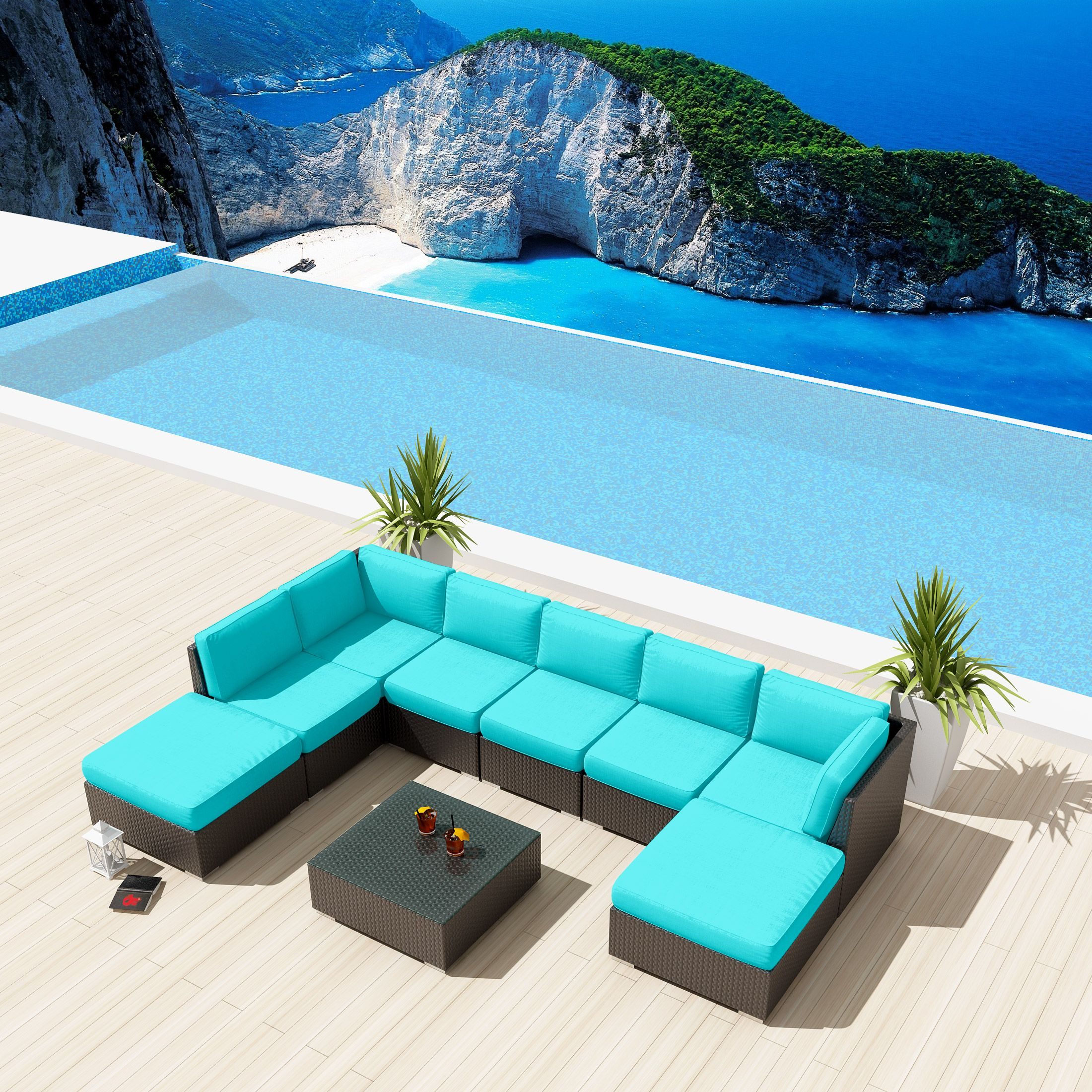 pieces sectional variety picture set furniture wicker of outdoor affordable rattan patio pe