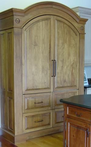 Refrigerator / Pantry Armoire | YesterTec Kitchen Design Company More