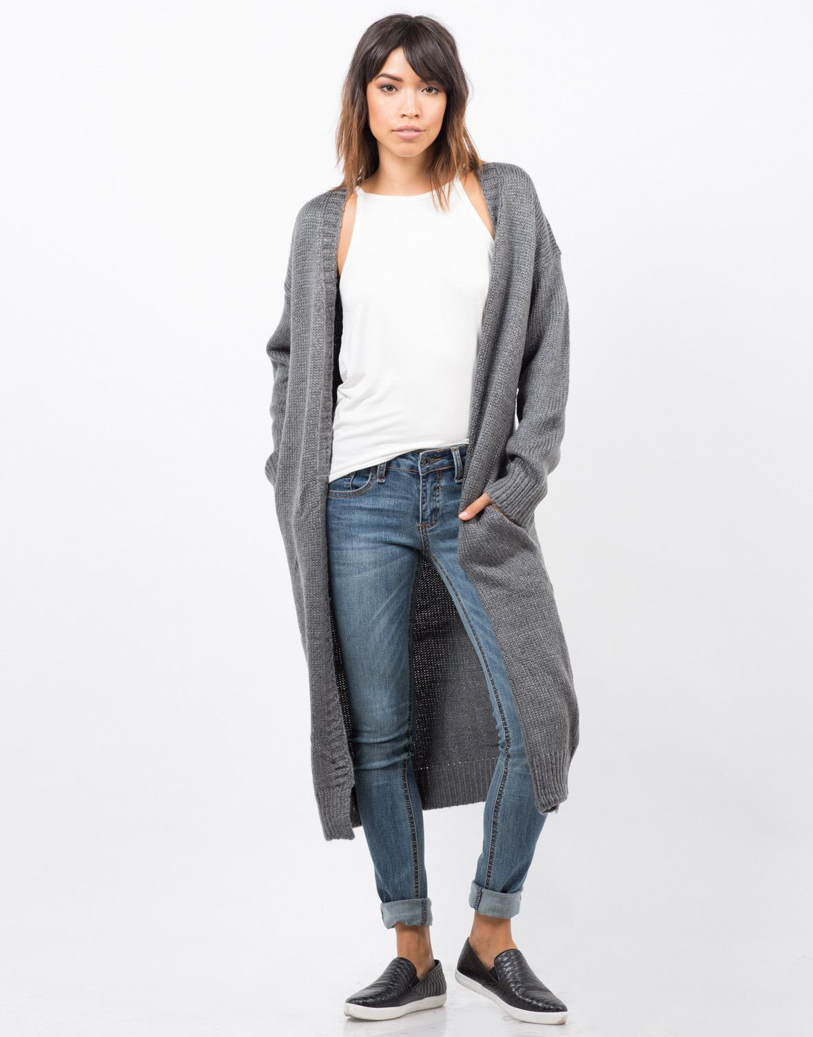 Chunky Long Knit Cardigan - Oversize Cardigan - Womens Outerwewar – Outerwear – 2020AVE