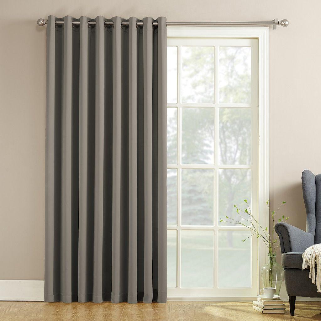 Sun Zero 1 Pack Gramercy Room Darkening Patio Door Window Curtain 100 X 84 In 2020 Patio Door Curtains Sliding Patio Doors Patio Doors