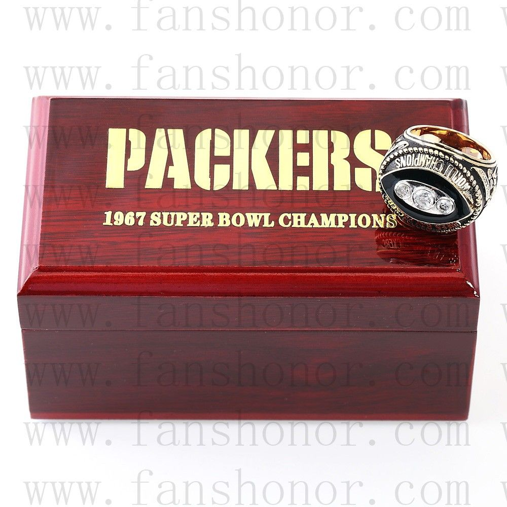 Custom NFL 1967 Super Bowl II Green Bay Packers Championship Ring - Football