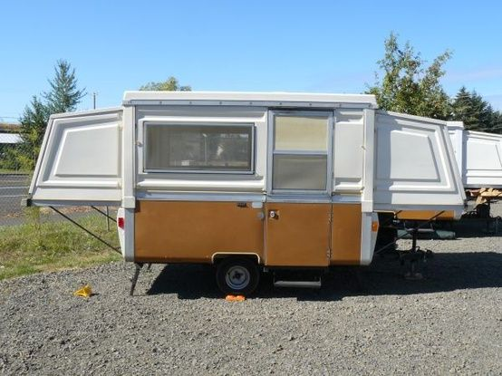 73 Apache Mesa Vintage Pop Up Tent Travel Trailer All Original