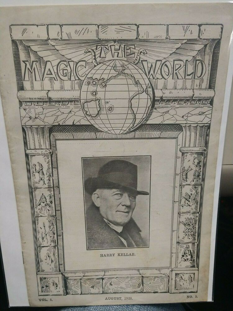 Harry Kellar Vintage Issue 1920 THE MAGIC WORLD PERIODICAL