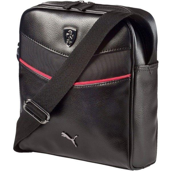 Puma Ferrari Portable Bag ( 60) ❤ liked on Polyvore featuring men s  fashion, men s bags and black 972d902263