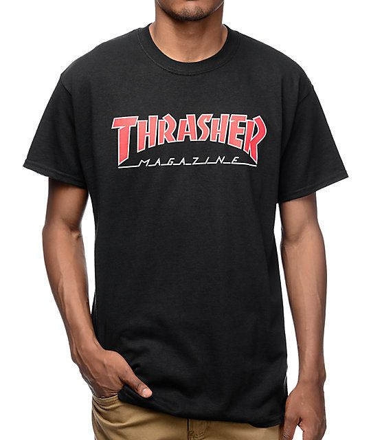 1f7d9755b95a Thrasher Magazine is the OG when it comes to bringing you all the latest  skate news, now you can be part of the legacy with the Logo t-shirt from  Thrasher ...