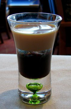 Rattle Snake Cocktail Drink    Rattlesnake recipe  1 part Bailey's® Irish cream  1 part Kahlua® coffee liqueur  1 part creme de cacao    Carefully layer into a shot glass, test tube or tumbler.