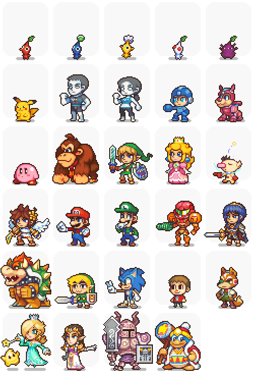 Super Smash Bros By Neorice Pixel Art Games Pixel Art Nintendo Art