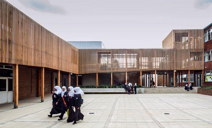 Las lamas de madera de las fachadas, patios y pasajes de Birmingham - fachada madera