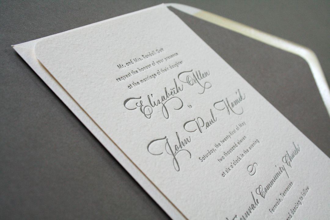 Elizabeth + John\'s Classic Calligraphy Wedding Invitations ...