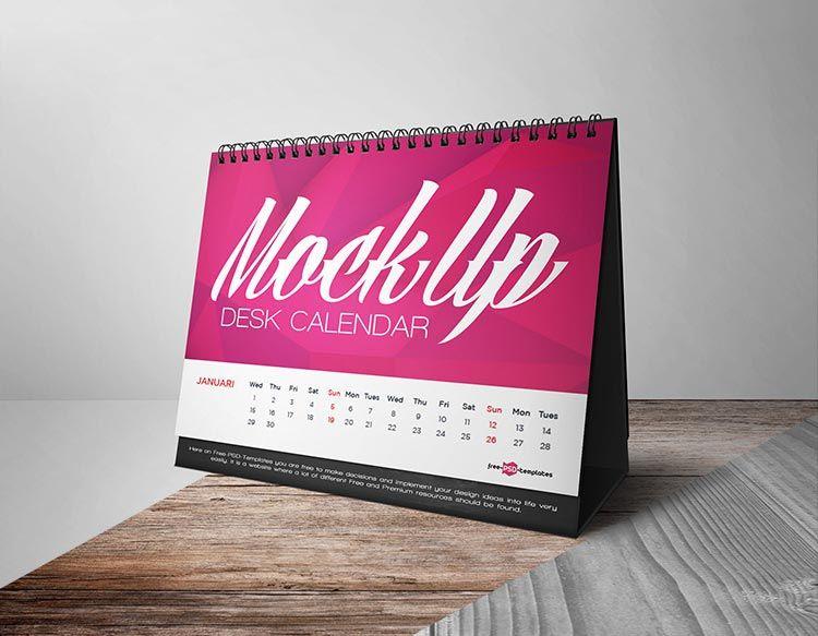 22 Best Free Calendar Mockups Desk Calendar Free Desk