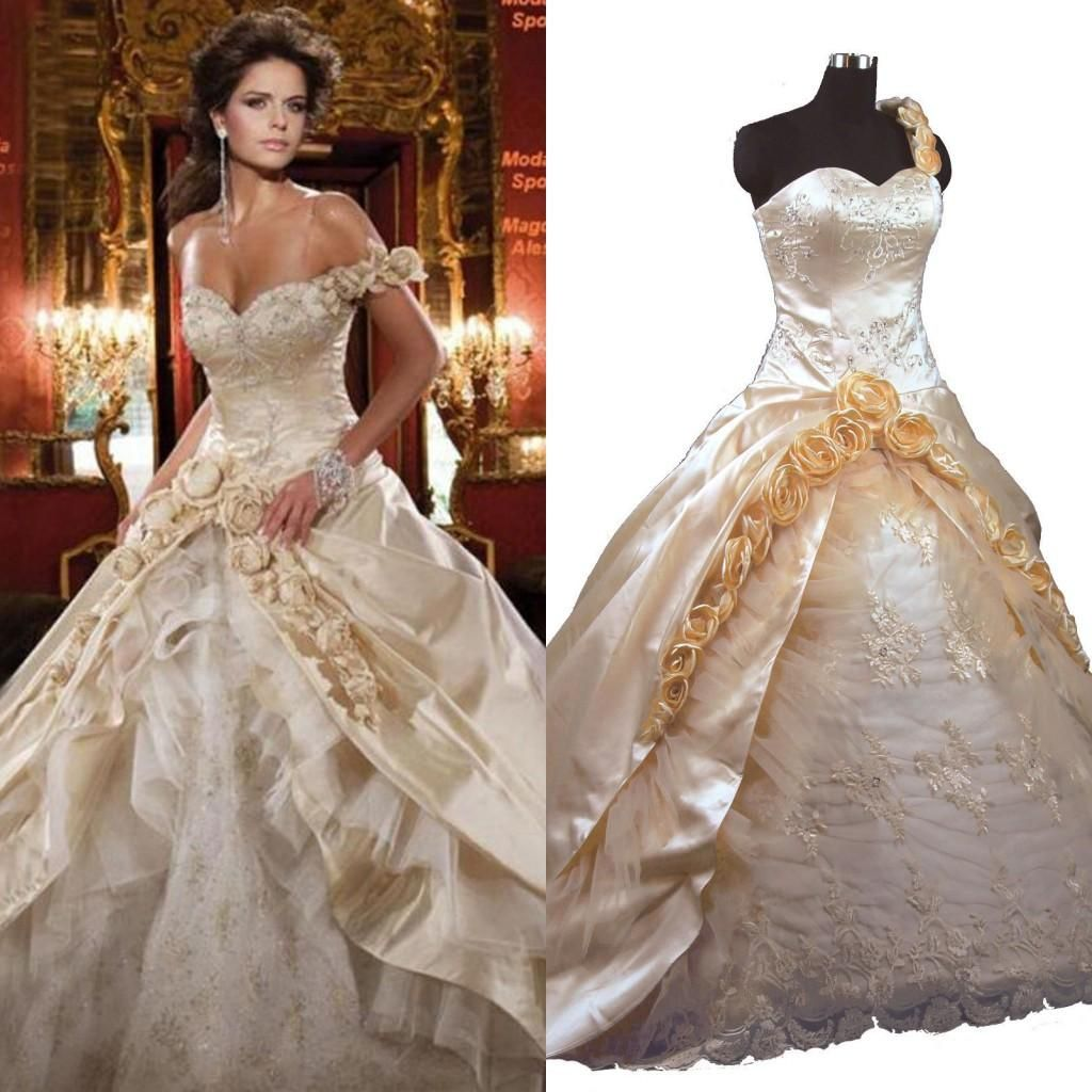 Vintage Victorian Ball Gown Wedding Dresses Sweetheart