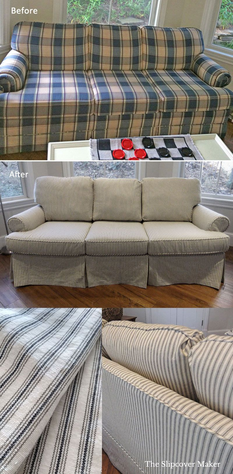 3 Slipcover Design Tips For Updating Your Old Sleeper Sofa Diy Sofa Cover Diy Sofa Diy Furniture Couch