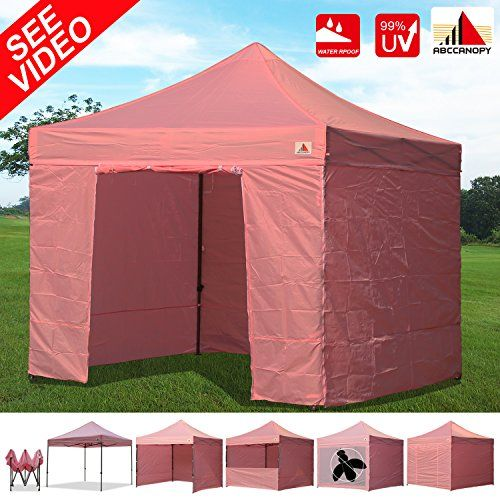 Best C&ing Tents | AbcCanopy 10x10 EZ Pop up Canopy Tent Instant Shelter Commercial Portable Market Canopy with Matching Sidewalls Weight Bags Roller Bag ...  sc 1 st  Pinterest & Best Camping Tents | AbcCanopy 10x10 EZ Pop up Canopy Tent Instant ...