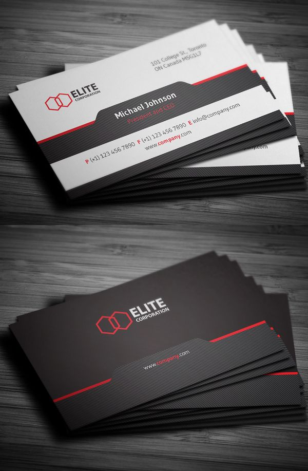 Simple and Clean Business Card #businesscards #psdtemplates #visitingcard #corporatedesign