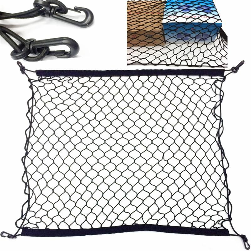 Car Trunk Storage Elastic Mesh Net 4 Hooks Fit For Opel
