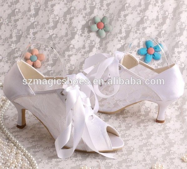 6 5cm Low Heel Lace Bridal Shoes For Las Product On