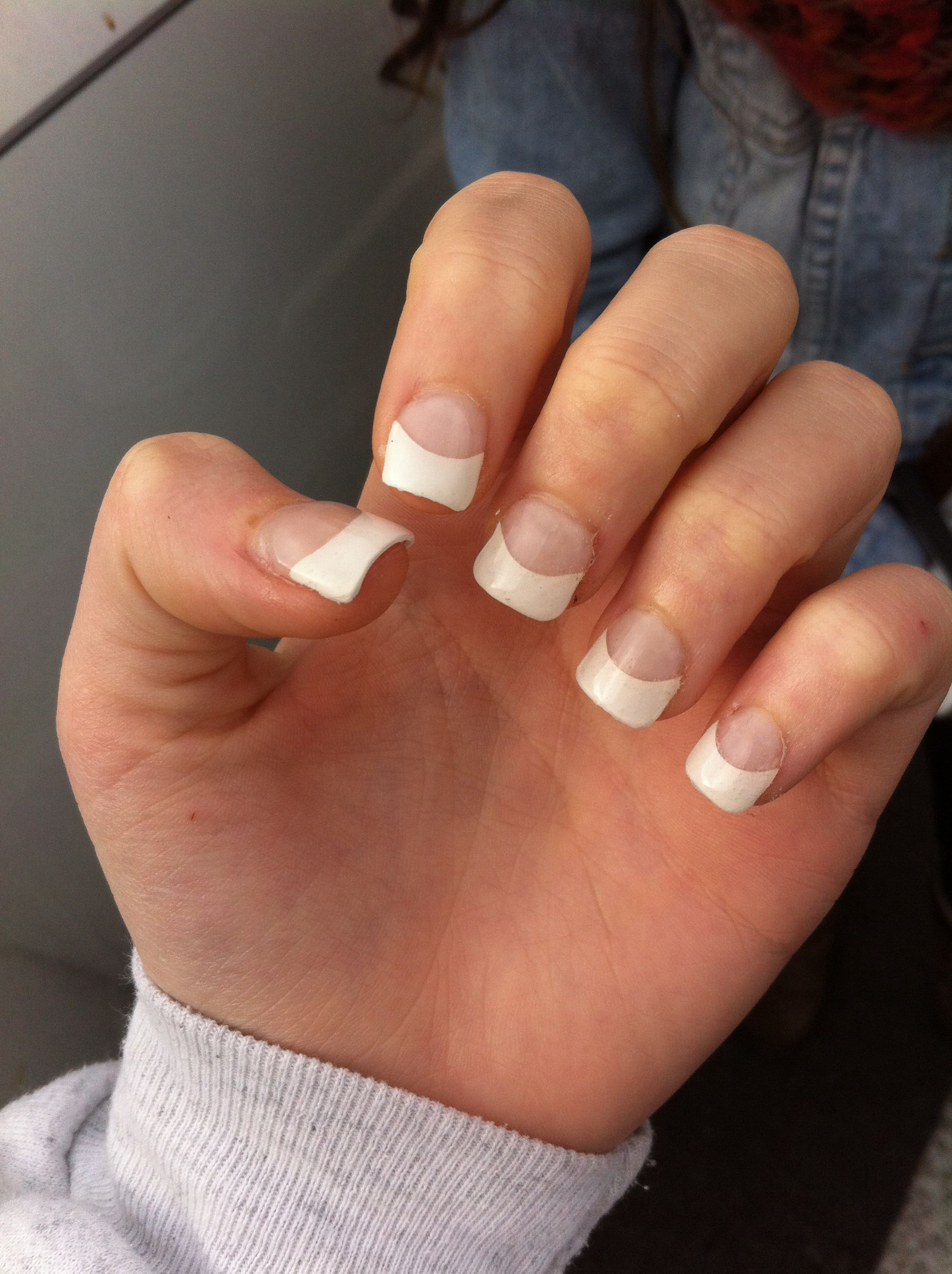 Acryllic tips French nails. Mirror Images Salon in Augusta Maine ...