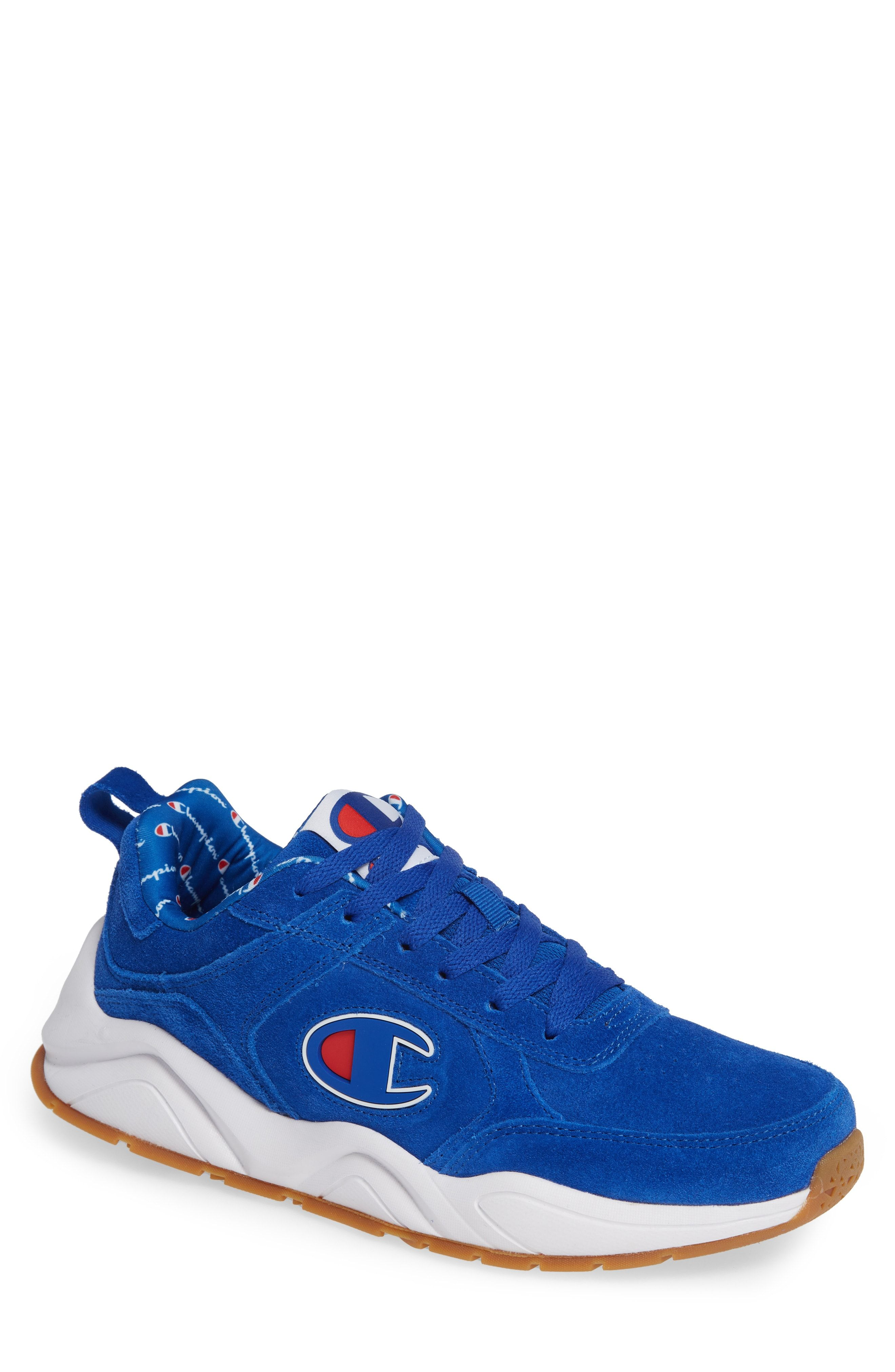 Champion shoes, Sneakers, Blue suede