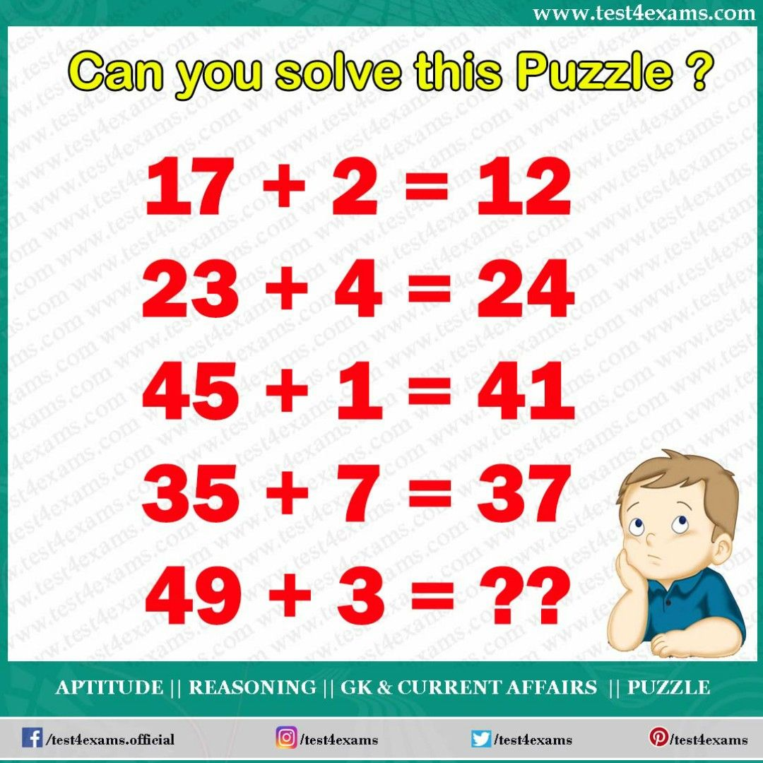 Puzzle 1042 Exam, Solving, Brain teasers with answers