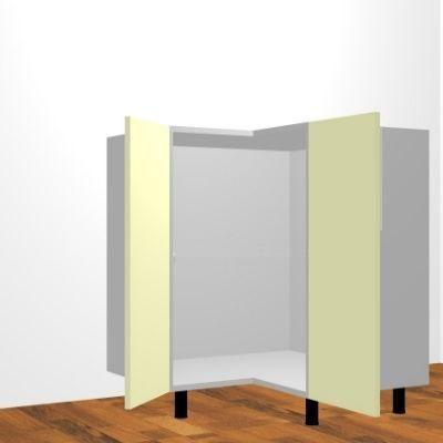 Mueble bajo fregadero h 80cm rinc n angular obra for Mueble bajo fregadero