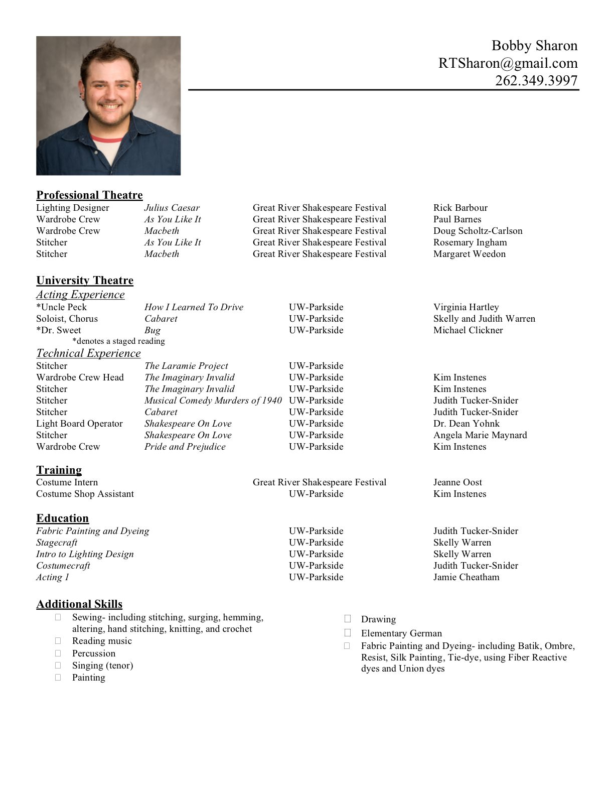 Typical Resume Format Curriculum Vitae Format Pdf  Httpwwwresumecareer