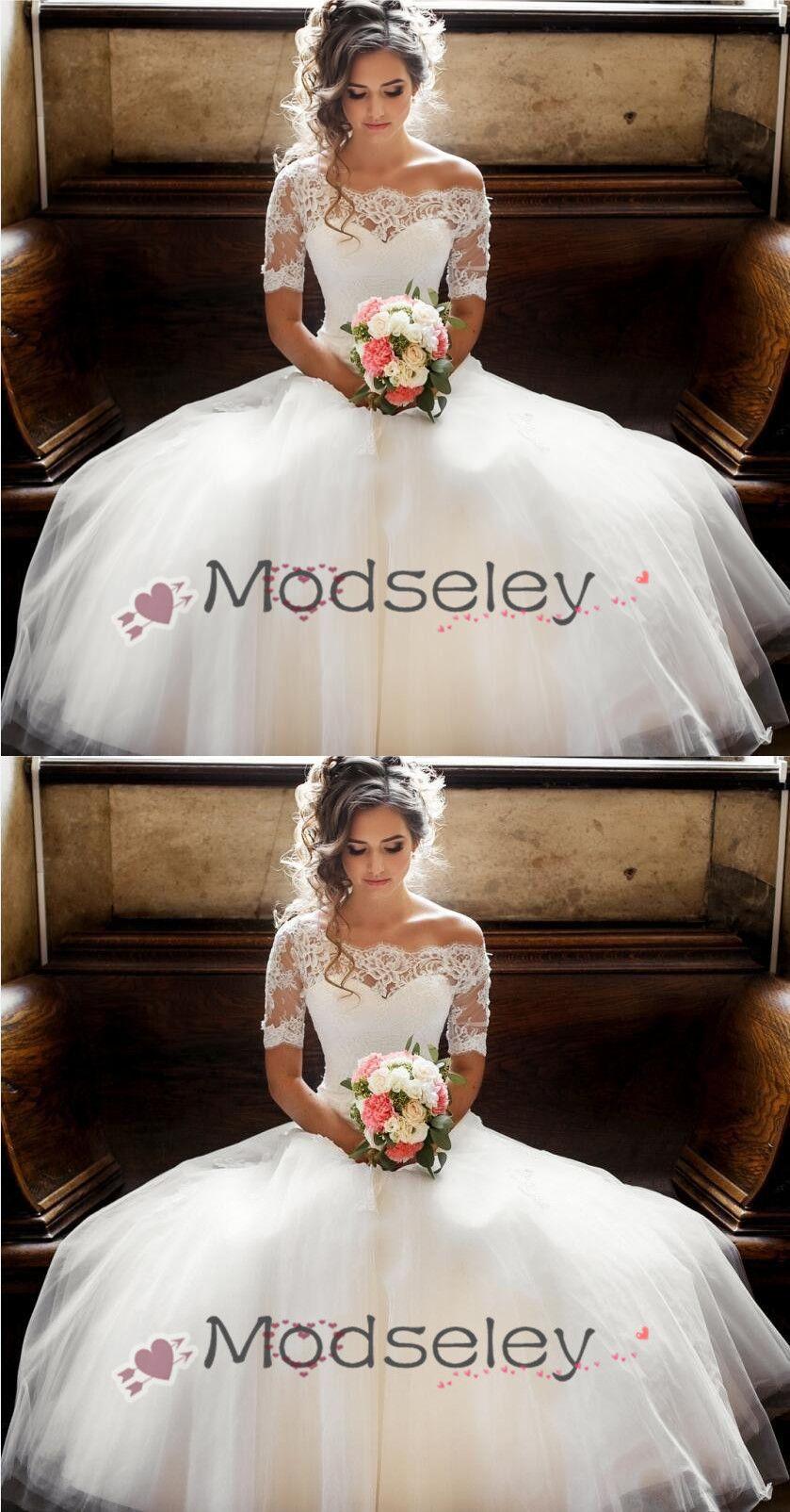 8065200e251d Gorgeous Off the Shoulder White Long Wedding Dress, White Lace Wedding Dress,  2019 Wedding Dress