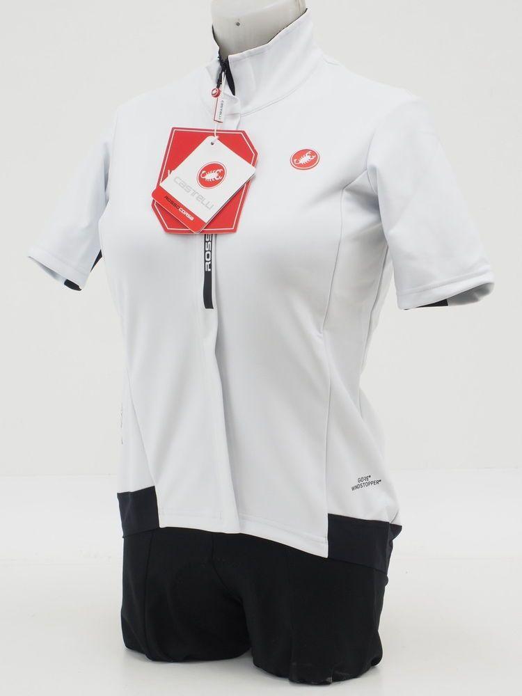 e30864b03 Castelli Women s Gabba 2 Small Cycling Jersey Jacket Short Sleeve White ( eBay