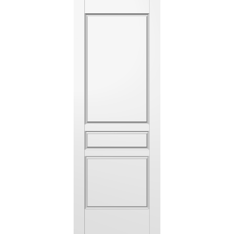 Denmark 3 panel moulded hollow core interior door for Good quality interior doors