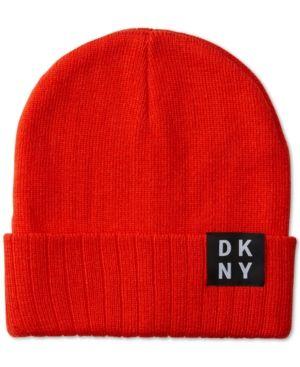 67eb837fb Dkny Men's Logo Beanie - Orange | Products in 2019 | Dkny mens, Man ...