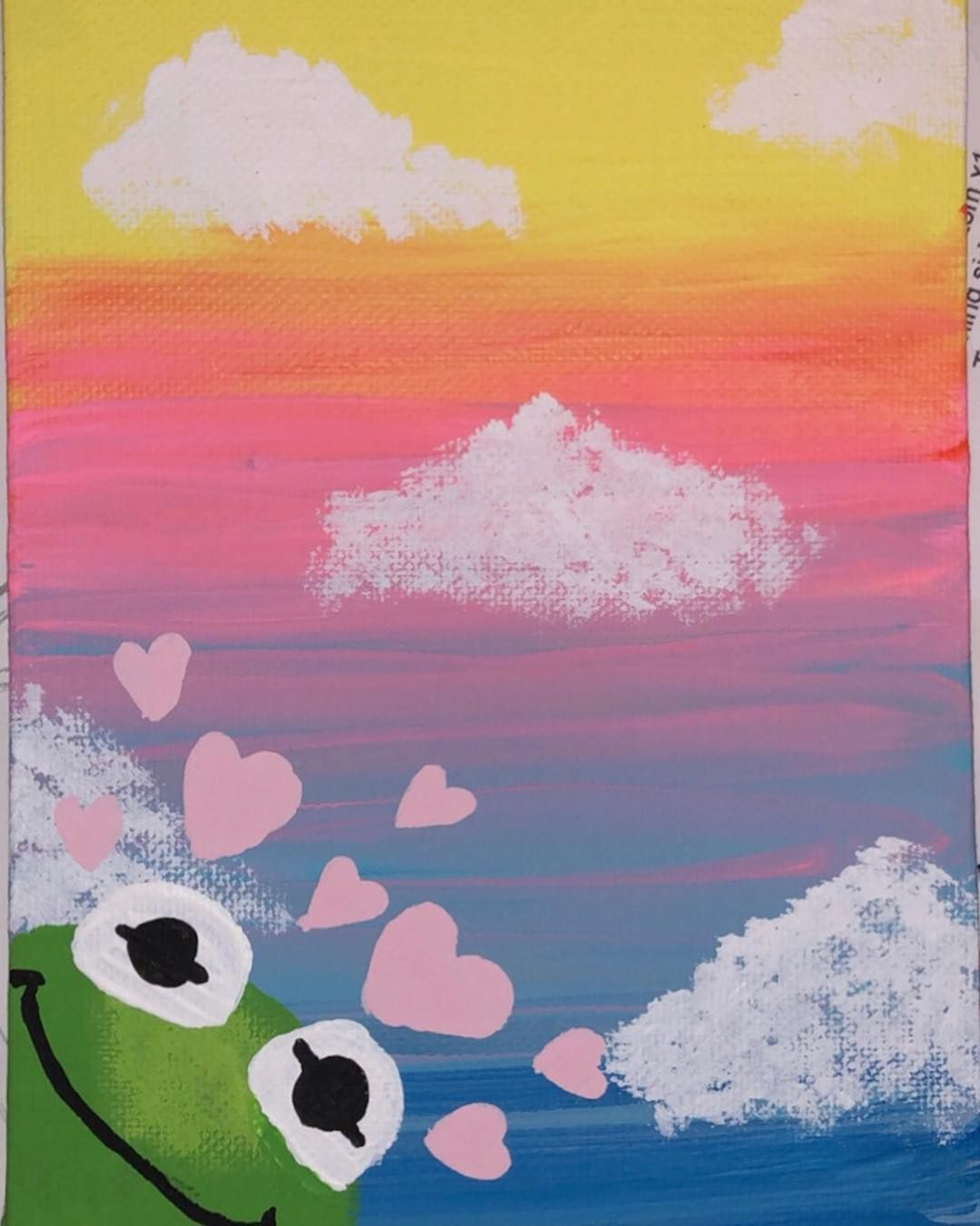 Aesthetic Sunset With Clouds Painting Tik Tok
