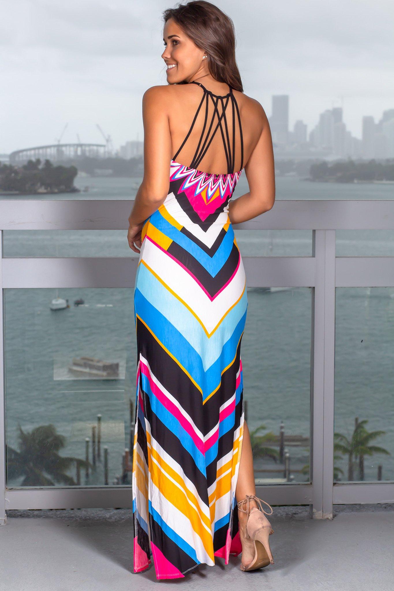 28++ Blue chevron maxi dress inspirations